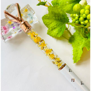 【送料無料】【替え芯付き】 【ダイヤモンド付き】  ハーバリウム ボールペン (プリザーブドフラワー)