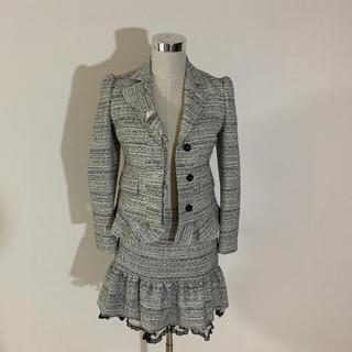 レッドヴァレンティノ(RED VALENTINO)のred valentino  スーツ フリル ツイード 美品(スーツ)