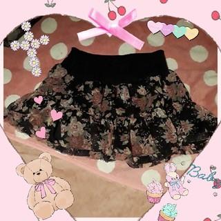アンズ(ANZU)のANZU 花柄ミニスカート(ミニスカート)