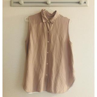 デミルクスビームス(Demi-Luxe BEAMS)のリネン混 シャツブラウス(シャツ/ブラウス(半袖/袖なし))