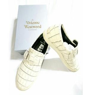 ヴィヴィアンウエストウッド(Vivienne Westwood)のVivienne Westwood MAN/クロコダイル型押し レザースニーカー(スニーカー)