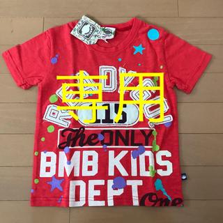 ブルームーンブルー(BLUE MOON BLUE)の新品タグ付 BMB KIDS半袖Tシャツ 男児120  レッド(Tシャツ/カットソー)