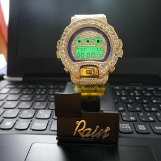 ジーショック(G-SHOCK)のG ショック イエロー スケルトンベルト  ゴールド カスタム(腕時計(デジタル))