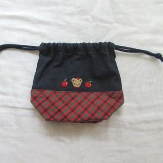 ファミリア(familiar)のfamiliar コップ袋 赤(ランチボックス巾着)