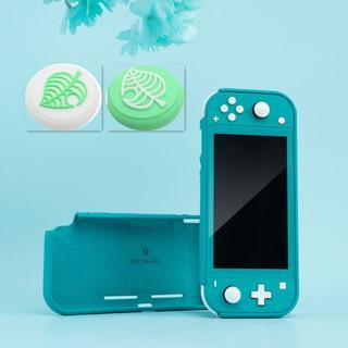 ニンテンドースイッチ(Nintendo Switch)のスイッチライト ケース シリコン素材 ソフトカバー &スティックカバー葉っぱ2個(家庭用ゲーム機本体)