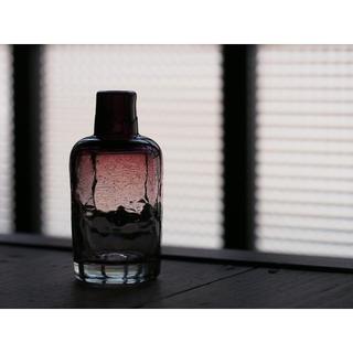 646 吹きガラス 平岩愛子 ボトル型一輪挿し(中) 新品未使用 民藝 民芸(花瓶)