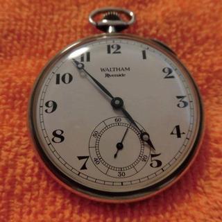 ウォルサム(Waltham)のウォルサム リバーサイド 銀無垢懐中時計 美品(腕時計(アナログ))