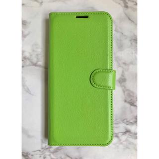 ギャラクシー(Galaxy)の日本版&人気商品☆GalaxyA30 シンプルレザー手帳型ケース グリーン 緑(Androidケース)
