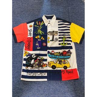 カステルバジャック(CASTELBAJAC)のCASTEL BAJAC(カステルバジャック)半袖メンズシャツ M~L 白ベース(シャツ)