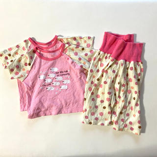 アカチャンホンポ(アカチャンホンポ)の【80cm】ベビー 半袖パジャマ 2枚セット(パジャマ)