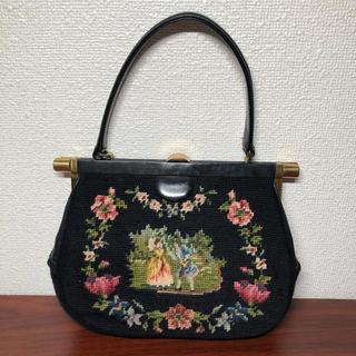 グリモワール(Grimoire)のニードルポイント刺繍バッグ(ハンドバッグ)