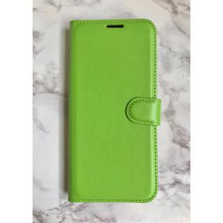 ギャラクシー(Galaxy)のシンプルレザー手帳型ケース GalaxyS10Plus グリーン 緑(Androidケース)