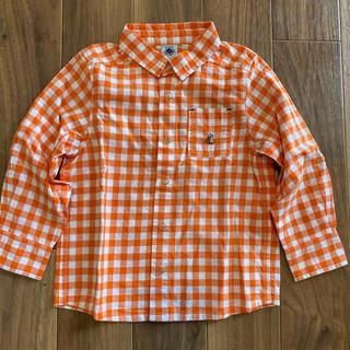 プチバトー(PETIT BATEAU)の(新品) プチバトー キッズ チェックシャツ(ブラウス)