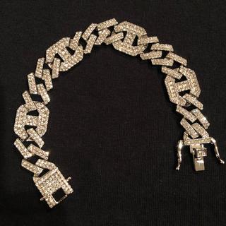 アヴァランチ(AVALANCHE)の新品 未使用 CZダイヤモンド スクエアストーン ブレスレット(ブレスレット)