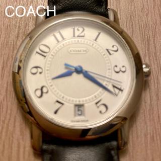 コーチ(COACH)の【美品】COACH コーチ メンズ本革腕時計 W523(腕時計(アナログ))