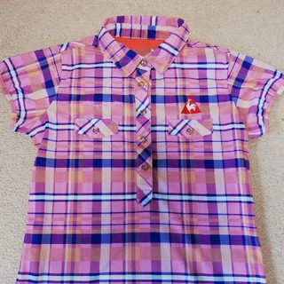 ルコックスポルティフ(le coq sportif)のルコック レディースゴルフシャツ Sサイズ(ウエア)