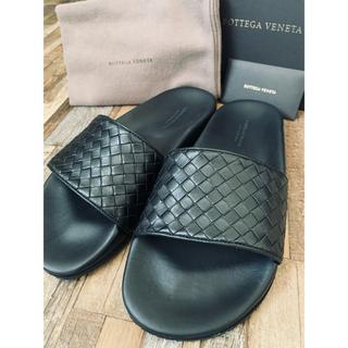 ボッテガヴェネタ(Bottega Veneta)のBOTTEGA VENETA(ボッテガヴェネタ)ブラック イントレ サンダル(サンダル)