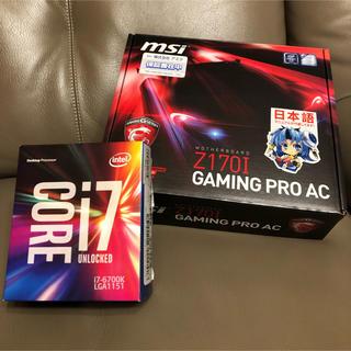 国内正規品 Intel Core i7 6700K + マザーボード(PCパーツ)