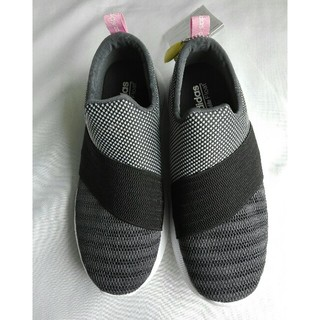 アディダス(adidas)のアディダス 23.5cm スニーカー スリッポン 黒(スリッポン/モカシン)