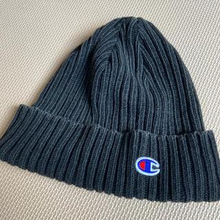 チャンピオン(Champion)のチャンピオン 綿100% ニット帽黒(ニット帽/ビーニー)