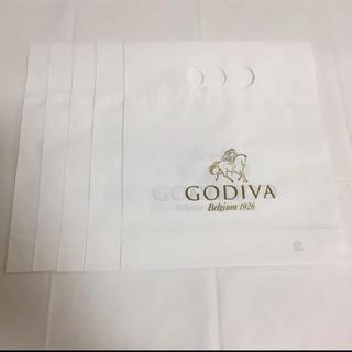ゴディバ GODIVA   ショップ袋 五枚(ショップ袋)