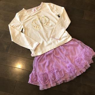 ディズニー(Disney)の女児キッズ130、140ディズニーロンT&チュールスカート(スカート)