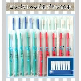 コンパクトヘッド歯ブラシ20本(歯ブラシ/デンタルフロス)