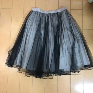 メリージェニー(merry jenny)のブラック シースルー スカート(ひざ丈スカート)