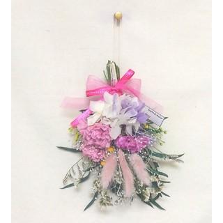mother's day mini swag(lavender/pink)(ドライフラワー)