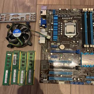 エイスース(ASUS)のcpu  マザーボード  セット  メモリ8gb  ジャンク(PCパーツ)