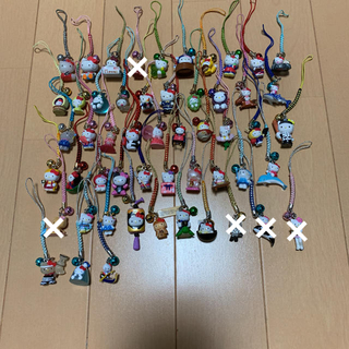 ハローキティ(ハローキティ)のレア☆ご当地キティ 53個 根付け(その他)