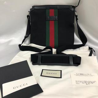 グッチ(Gucci)の★新品同様★ グッチ 471454 キャンバス フラット メッセンジャーバック(メッセンジャーバッグ)