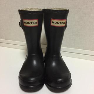 ハンター(HUNTER)のHUNTER キッズ レインブーツ UK8(長靴/レインシューズ)