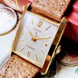 エルジン(ELGIN)の#553 【エルジンの腕時計】 ELGIN メンズ 腕時計 機械式 手巻き(腕時計(アナログ))