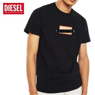 ディーゼル(DIESEL)の60 DIESEL  ブラック クルーネック 半袖 Tシャツ size XL(Tシャツ/カットソー(半袖/袖なし))