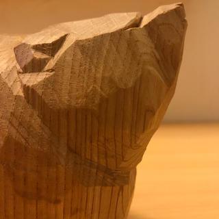【週末限定値下げ】 柴崎重行 木彫り熊 骨董 アンティーク (彫刻/オブジェ)