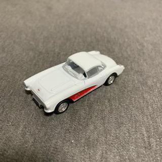 シボレー(Chevrolet)の1957 シボレー コルベット ミニカー ホワイト 1/64サイズ(ミニカー)