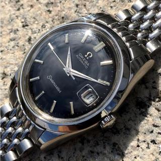 オメガ(OMEGA)の超希少 オメガ シーマスター ブラック ギルト 1960s(腕時計(アナログ))