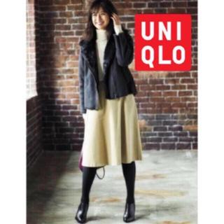 ユニクロ(UNIQLO)の新品 ユニクロ スエード ファー ジャケット コート(ライダースジャケット)