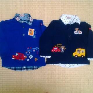 ミキハウス(mikihouse)の重ね着風 ロンT 長袖 襟付き プッチー(Tシャツ/カットソー)