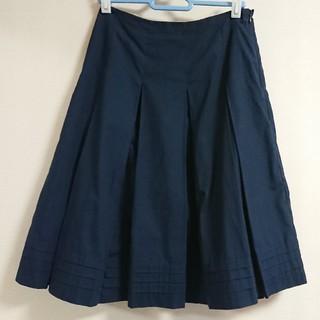 ベルメゾン(ベルメゾン)のベルメゾン 膝丈スカート プリーツ 紺色(ひざ丈スカート)