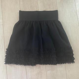 プーラフリーム(pour la frime)のチュールスカートPour La Frime のブラック フリルミニスカート(ミニスカート)
