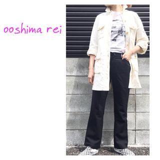 オオシマレイ(OSHIMA REI)のとっても可愛いです♡OSHIMA REI  オオシマレイ アーミージャケット(ミニワンピース)