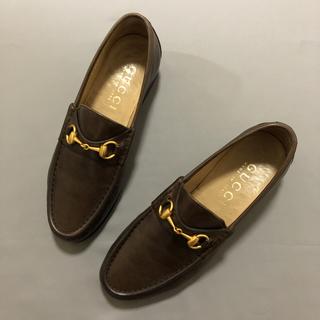 グッチ(Gucci)のGUCCI グッチ ビットローファー ブラウン 茶靴(スリッポン/モカシン)