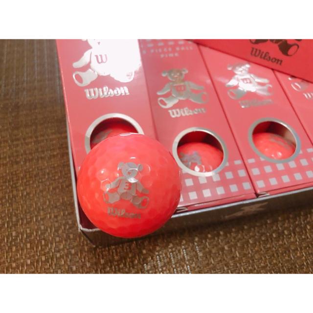 wilson(ウィルソン)のゴルフボール Wilson BEAR3 ピンク スポーツ/アウトドアのゴルフ(その他)の商品写真