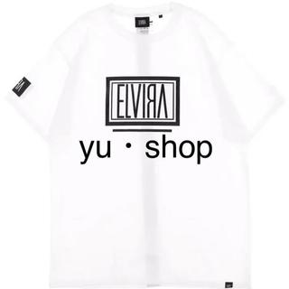 エルヴィア(ELVIA)の白×黒  エルビラ 登坂  希少  Lサイズ  Tシャツ  新品未使用。(Tシャツ/カットソー(半袖/袖なし))