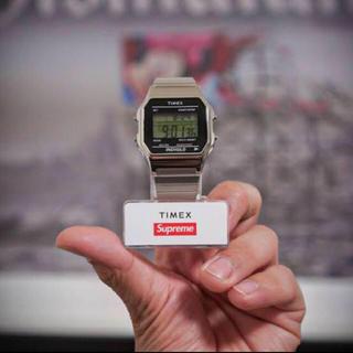 シュプリーム(Supreme)のh&m様 Supreme Timex Digital Watch silver(腕時計(デジタル))