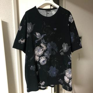 ラッドミュージシャン(LAD MUSICIAN)のladmusician 18ss サイズ 42 フラワー 柄 Tシャツ 花柄 青(Tシャツ/カットソー(半袖/袖なし))