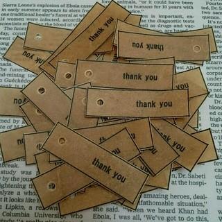 100枚蝋引き タグTHANK YOU(カード/レター/ラッピング)