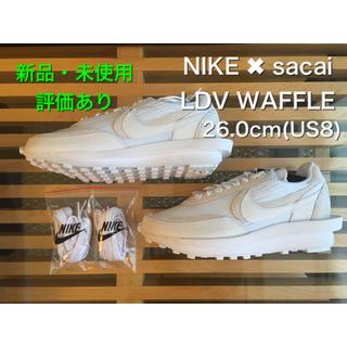 サカイ(sacai)の新品 NIKE × sacai LDV Waffle White 26cm(スニーカー)